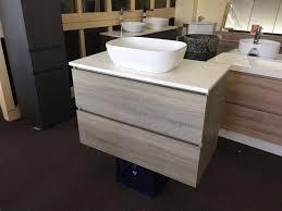Timber Bathroom Vanity Bogetta 750mm Light Grey Oak Timber Wood Grain Bathroom Vanity