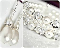 bridal earrings bracelet sets images 30 earring and bracelet sets for brides fashion pearl statement jpg