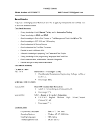 Test Engineer Sample Resume by Format Resumes Resume Model Format Mobile Phone Test Engineer