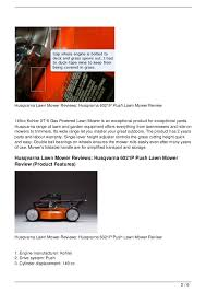 husqvarna lawn mower reviews husqvarna 6021p push lawn mower review