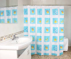 Bathtub Curtains Elegant Fabric Shower Curtains With Valance Pale White Curtain