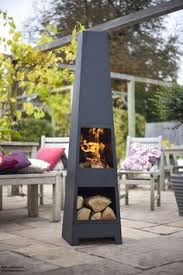 Chiminea On Wood Deck Modern Mamo Black Chiminea Fire Pit For Outdoor Wooden Deck Fire