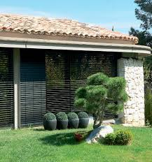 Motorized Outdoor Blinds Venetian Blinds Wooden Outdoor Motorized Andaluz Ami A
