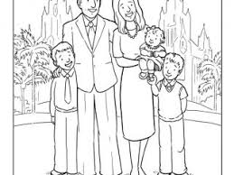 lds coloring pages family coloring page friend august 2009 friend