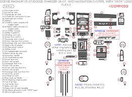 dodge charger dash kit 2006 2007 dodge charger complete dash kit srt8 logo auto