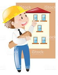 engineer and house blueprint stock vector art 677665010 istock