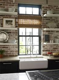 Best  Kitchen Brick Ideas On Pinterest Exposed Brick Kitchen - Kitchen with brick backsplash