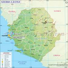Physical Features Map Of Africa by Map Of Sierra Leone Sierra Leone Map