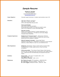 resume templates high school hs resume template best of 6 resume template high school graduate
