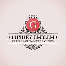 luxury logo calligraphic pattern decor elements vintage