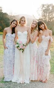 floral bridesmaid dresses floral print bridesmaid dresses 2017 wedding ideas magazine