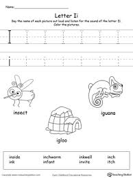 common worksheets letter i words for preschool preschool and