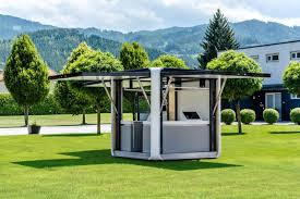 pop up house cost hbt s cubox is a solar powered mobile pop up kiosk