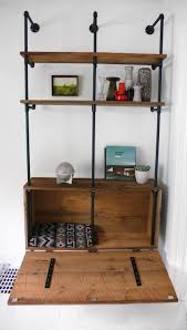 Steel Pipe Shelving by Reclaimed Wood U0026 Pipe Shelving Unit Mid Century By Hindsvik
