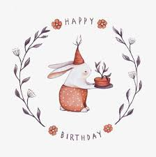 rabbit birthday rabbit birthday elements bunny painted png