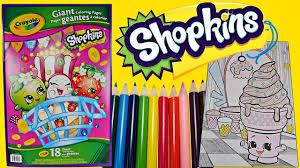 shopkins speed coloring ice cream dream w colored pencils fun