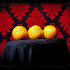 Vinyl Orange Ottoman Vinyl Orange Ottoman Home