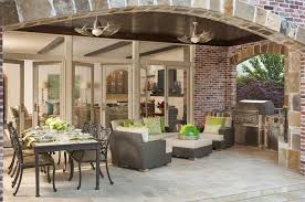 minka aire in spaces transitional with outdoor ceiling fan next to