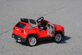 red toy jeep jeep renegade ride on toy car 12volts remote control red ride on