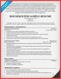 Housekeeping Resume Templates Housekeeping Resume Sample Memo Example