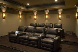 room movie room wall sconces modern rooms colorful design simple