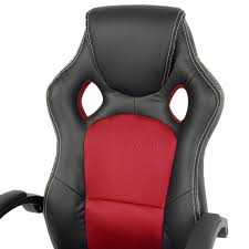 Red Leather Swivel Chair by Executive Racing Gaming Office Chair Pu Leather Swivel Computer