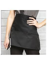 tablier de cuisine professionnel personnalisé tablier professionnel personnalisé de taille poches zip ibrode