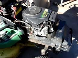 mov00005 17hp kawasaki from x300 john deer lawn tractor o6 youtube