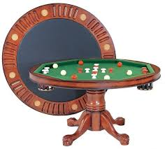 round poker table with dining top 3 in 1 round combination table in antique walnut 54 inch diameter
