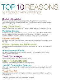 registering for wedding dwellings wedding registry happily after begins with dwellings