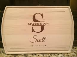 cutting board engraved laser engraved gifts raleigh laser engraving gifts monograms