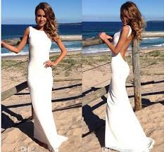 tight wedding dresses 2018 backless vintage wedding dresses bateau neckline white