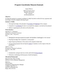 Example Training Coordinator Resume 100 Resume For Event Planner Assistant Wedding Planner