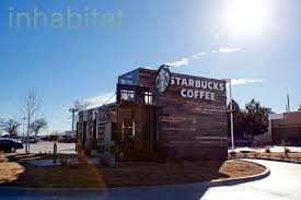 starbucks opens drive thru made from recycled shipping containers