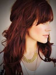 chocolate brown with red highlights popular long hairstyle idea