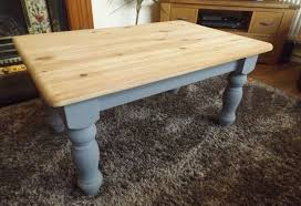farmhouse style coffee table solid pine farmhouse style coffee table with grey painted legs in
