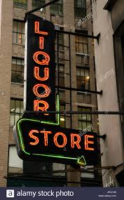 Liquor Signs by Liquor Store Sign New York Usa Stock Photo Royalty Free Image