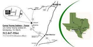Austin Tx Maps by Directions U0026 Travel Camp Young Judaea Texas
