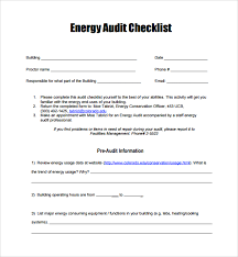 sample audit checklist template 13 free documents in pdf
