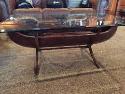bob timberlake glass top coffee table coffee table singular canoe coffee table picture design boat
