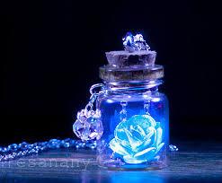 black light necklace images The glowing rose sky blue vial necklace silver black jpg