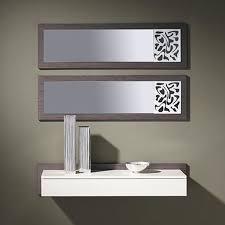 meubles entrée design meuble d entrée contemporain avec miroir monet coloris cèdre gris
