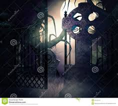 halloween graveyard background dark graveyard gate background stock image image 30042431