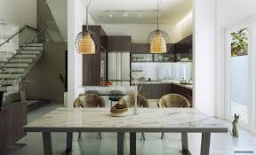 Dining Room Chic Contemporary Spaces Rendered By Anh Nguyen