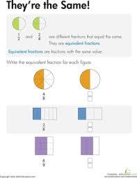 equivalent fractions find the partner worksheet education com