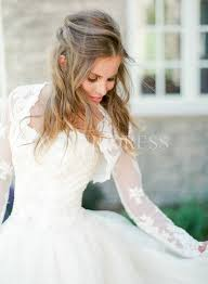 wedding dress jacket shop discount sleeve 2 ways wear a line wedding dress with