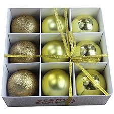 plastic shatterproof ornament balls 20ct gold home