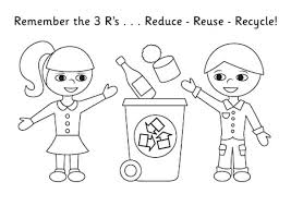 recycling coloring pages u2013 vonsurroquen