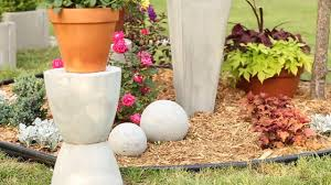 diy concrete garden ornaments image of how to make from
