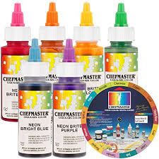 chefmaster by us cake supply liqua gel 2 3 ounce neon cake